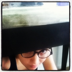 If anyone needs me, I'll be hiding under the table. (Please don't need me.)
